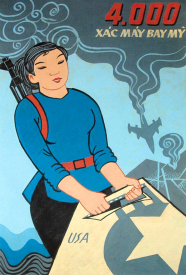 Aircraft Fiiring 4000 Confirmed Vietnam 1970 | Vintage War Propaganda Posters 1891-1970