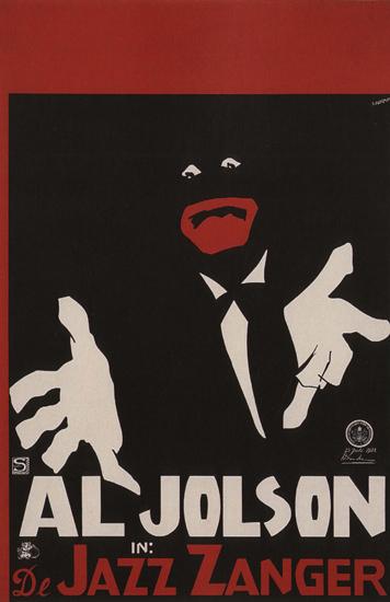 Al Jolson In De Jazz Zanger Netherlands | Vintage Ad and Cover Art 1891-1970
