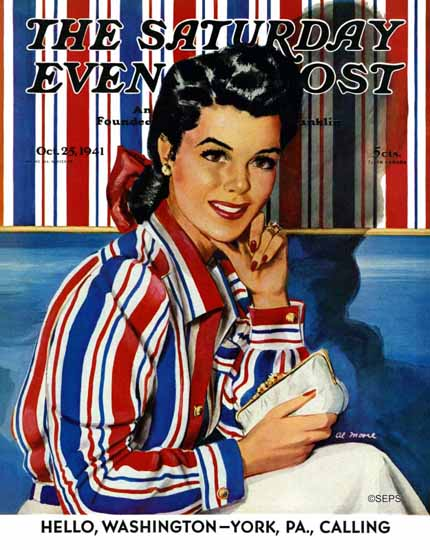 Al Moore Saturday Evening Post Wall Blouse 1941_10_25 Sex Appeal | Sex Appeal Vintage Ads and Covers 1891-1970