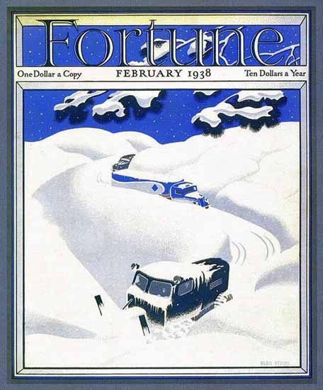 Alan Atkins Fortune Magazine February 1938 Copyright | Fortune Magazine Graphic Art Covers 1930-1959