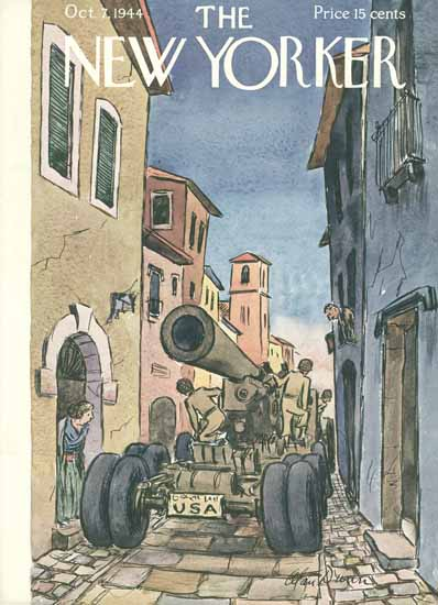 Alan Dunn The New Yorker 1944_10_07 Copyright | The New Yorker Graphic Art Covers 1925-1945