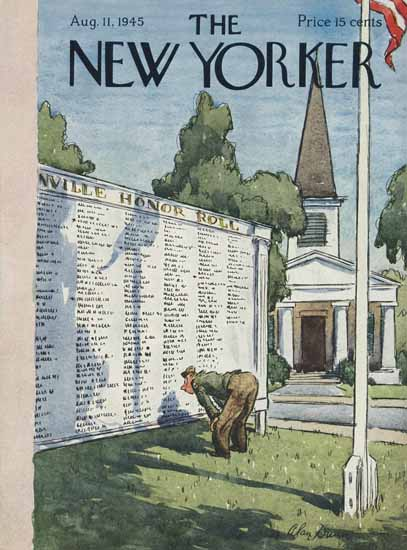 Alan Dunn The New Yorker 1945_08_11 Copyright | The New Yorker Graphic Art Covers 1925-1945