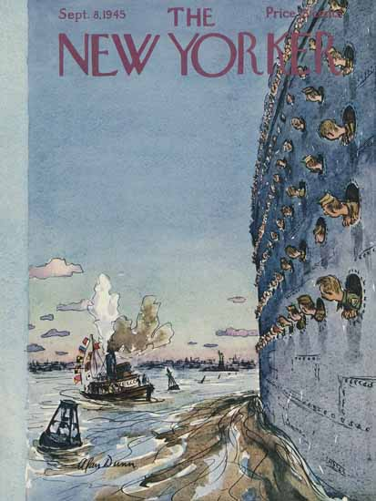 Alan Dunn The New Yorker 1945_09_08 Copyright   The New Yorker Graphic Art Covers 1925-1945