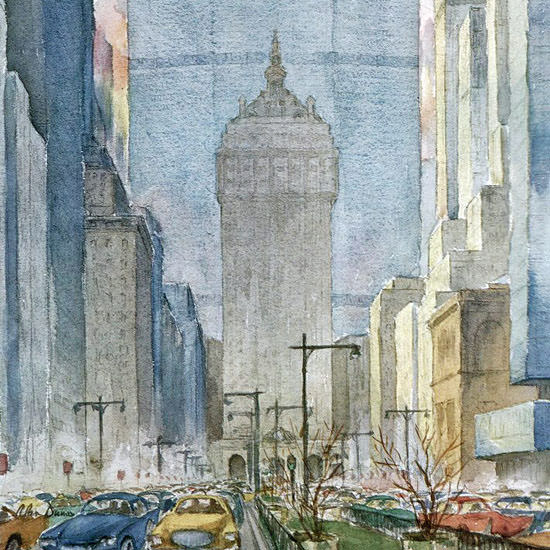 Alan Dunn The New Yorker 1963_02_16 Copyright crop | Best of Vintage Cover Art 1900-1970