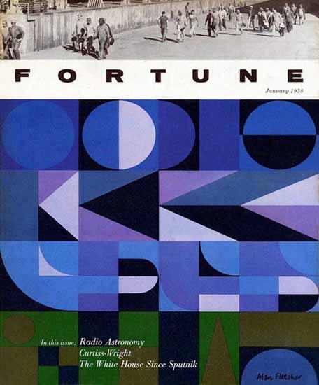 Alan Fletcher Fortune Magazine January 1958 Copyright | Fortune Magazine Graphic Art Covers 1930-1959