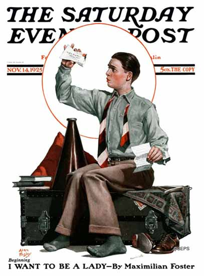 Alan Foster Saturday Evening Post 1925_11_14 | The Saturday Evening Post Graphic Art Covers 1892-1930