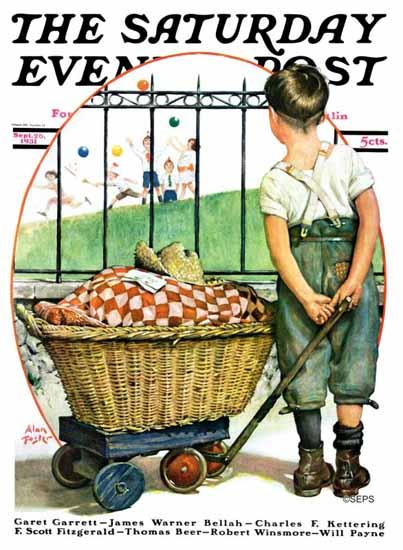 Alan Foster Saturday Evening Post Other Half Two 1931_09_26   The Saturday Evening Post Graphic Art Covers 1931-1969