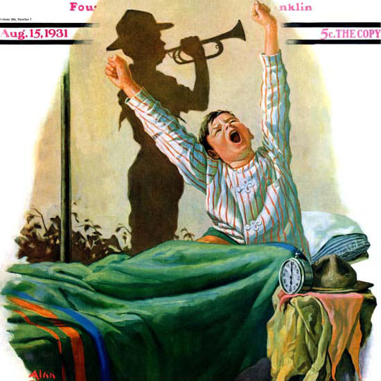 Alan Foster Saturday Evening Post Reveille 1931_08_15 Copyright crop | Best of Vintage Cover Art 1900-1970