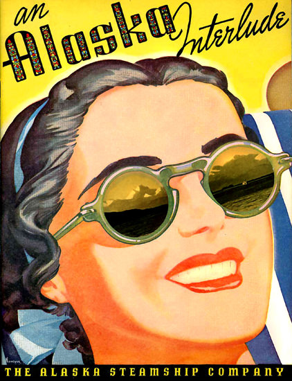 Alaska Steamship Company Interlude Girl 1938 by Arthur F Niemeyer | Sex Appeal Vintage Ads and Covers 1891-1970