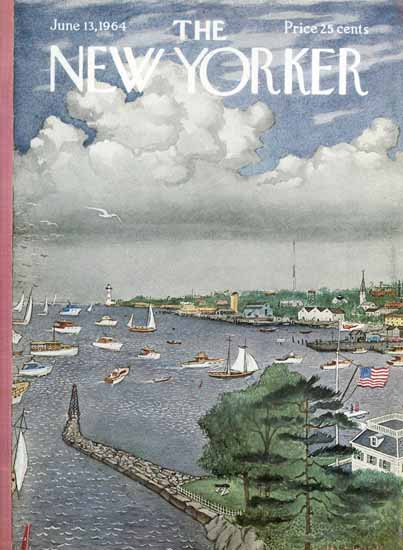 Albert Hubbell The New Yorker 1964_06_13 Copyright | The New Yorker Graphic Art Covers 1946-1970