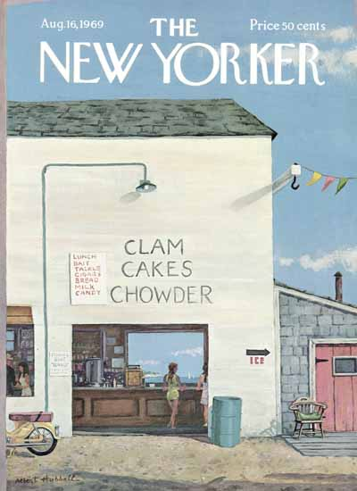 Albert Hubbell The New Yorker 1969_08_16 Copyright | The New Yorker Graphic Art Covers 1946-1970