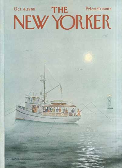Albert Hubbell The New Yorker 1969_10_04 Copyright | The New Yorker Graphic Art Covers 1946-1970