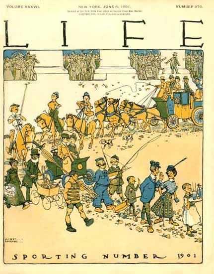 Albert Levering Life Humor Magazine 1901-06-06 Copyright | Life Magazine Graphic Art Covers 1891-1936