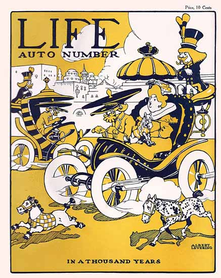 Albert Levering Life Humor Magazine 1905-01-19 Copyright | Life Magazine Graphic Art Covers 1891-1936