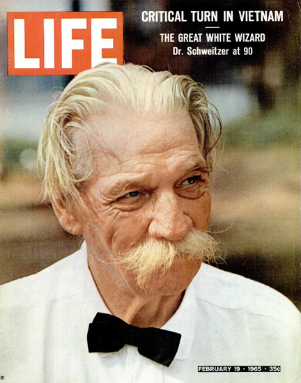 Albert Schweitzer Lambarene 19 Feb 1965 Copyright Life Magazine | Life Magazine Color Photo Covers 1937-1970