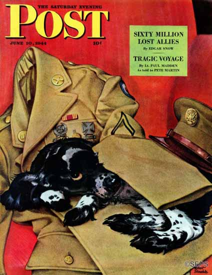 Albert Staehle Butch the Cocker Saturday Evening Post 1944_06_10 | The Saturday Evening Post Graphic Art Covers 1931-1969