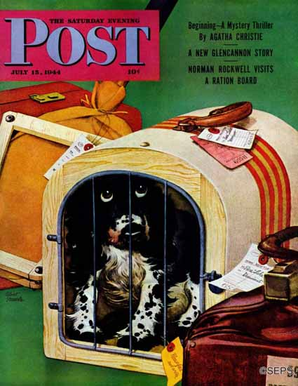 Albert Staehle Butch the Cocker Saturday Evening Post 1944_07_15 | The Saturday Evening Post Graphic Art Covers 1931-1969