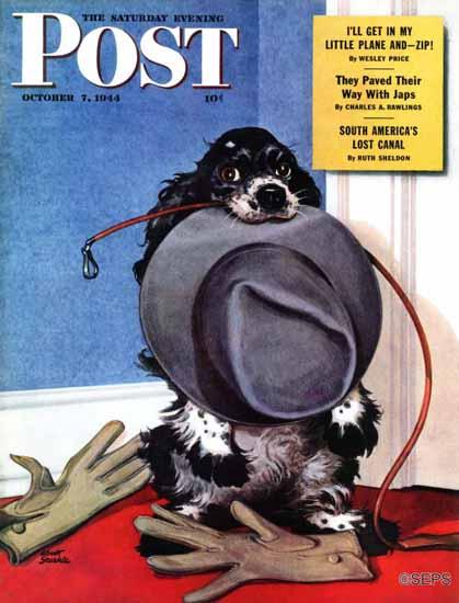 Albert Staehle Butch the Cocker Saturday Evening Post 1944_10_07 | The Saturday Evening Post Graphic Art Covers 1931-1969