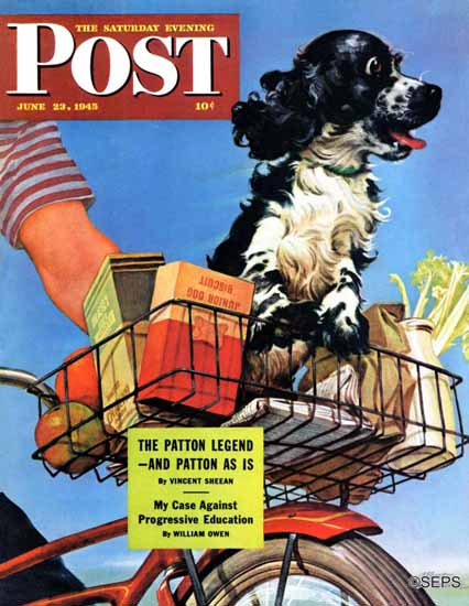 Albert Staehle Butch the Cocker Saturday Evening Post 1945_06_23 | The Saturday Evening Post Graphic Art Covers 1931-1969