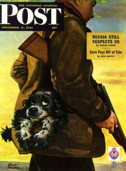 Albert Staehle Butch the Cocker Saturday Evening Post 1945_11_17 | The Saturday Evening Post Graphic Art Covers 1931-1969