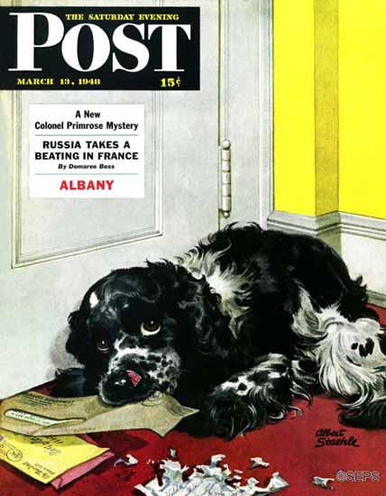 Albert Staehle Butch the Cocker Saturday Evening Post 1948_03_13 | The Saturday Evening Post Graphic Art Covers 1931-1969