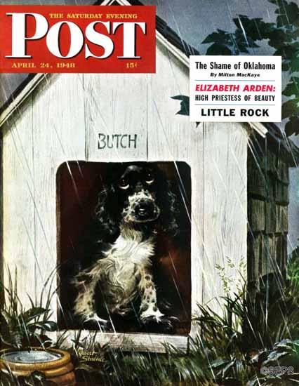 Albert Staehle Butch the Cocker Saturday Evening Post 1948_04_24 | The Saturday Evening Post Graphic Art Covers 1931-1969