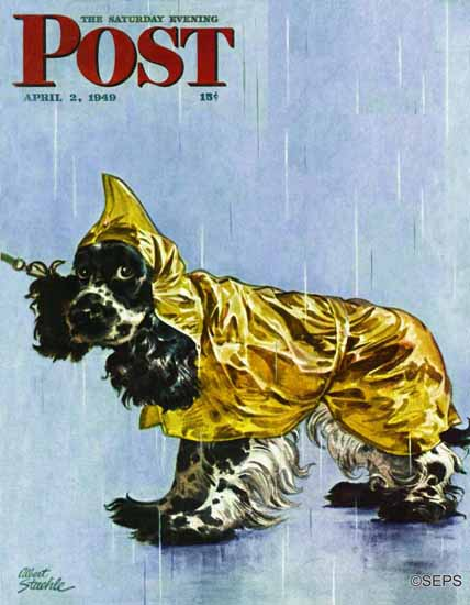 Albert Staehle Butch the Cocker Saturday Evening Post 1949_04_02 | The Saturday Evening Post Graphic Art Covers 1931-1969