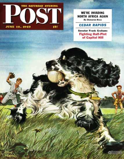 Albert Staehle Butch the Cocker Saturday Evening Post 1949_06_18 | The Saturday Evening Post Graphic Art Covers 1931-1969