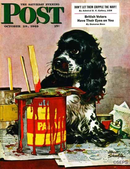 Albert Staehle Butch the Cocker Saturday Evening Post 1949_10_29 | The Saturday Evening Post Graphic Art Covers 1931-1969