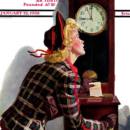 Albert W Hampson Saturday Evening Post 1938_01_22 Copyright crop | Best of Vintage Cover Art 1900-1970