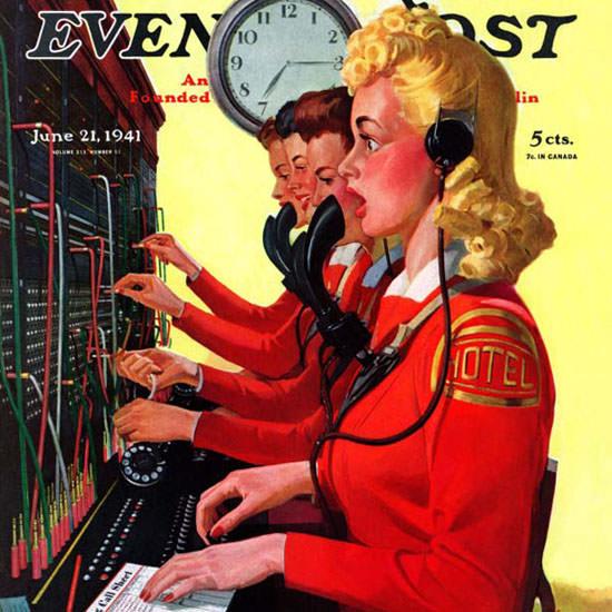 Albert W Hampson Saturday Evening Post 1941_06_21 Copyright crop | Best of Vintage Cover Art 1900-1970