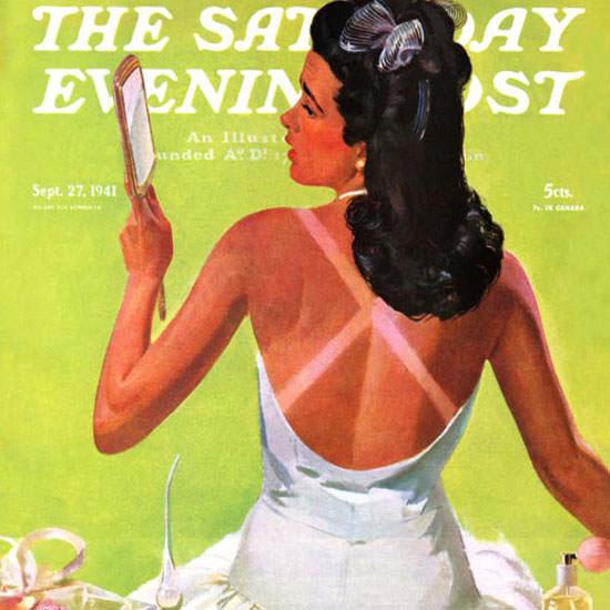 Albert W Hampson Saturday Evening Post 1941_09_27 Copyright crop | Best of Vintage Cover Art 1900-1970