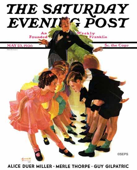 Albert W Hampson Saturday Evening Post Cotillion 1936_05_23 | The Saturday Evening Post Graphic Art Covers 1931-1969