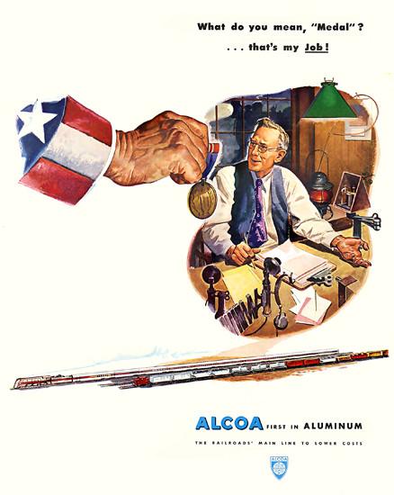 Alcoa Aluminum Medal   Vintage War Propaganda Posters 1891-1970