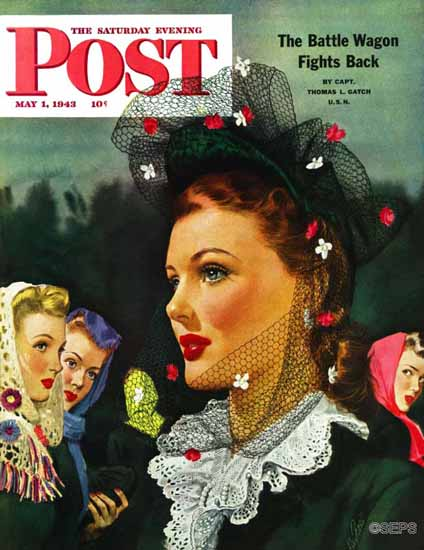 Alex Ross Saturday Evening Post War Widow 1943_05_01 Sex Appeal   Sex Appeal Vintage Ads and Covers 1891-1970