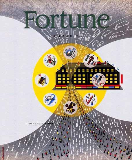 Alex Steinweiss Fortune Magazine December 1945 Copyright | Fortune Magazine Graphic Art Covers 1930-1959
