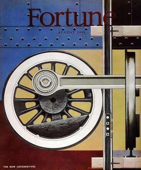 Alexander Semenoick Fortune Magazine August 1945 Copyright | Fortune Magazine Graphic Art Covers 1930-1959
