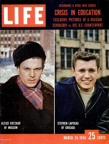 Alexey Kutzkov vs Stephen Lepekas 24 Mar 1958 Copyright Life Magazine | Life Magazine Color Photo Covers 1937-1970