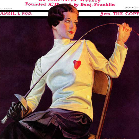 Alfred F Cammarata Saturday Evening Post 1933_04_01 Copyright crop | Best of 1930s Ad and Cover Art