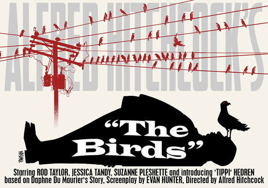 Alfred Hitchcock The Birds Movie 1963 | Vintage Ad and Cover Art 1891-1970