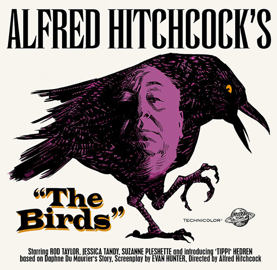 Alfred Hitchcock Raven The Birds Movie 1963 | Vintage Ad and Cover Art 1891-1970