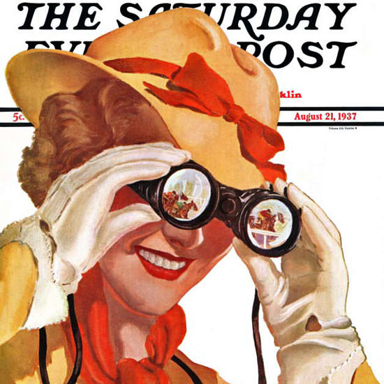 Alfred Panepinto Saturday Evening Post 1937_08_21 Copyright crop | Best of Vintage Cover Art 1900-1970