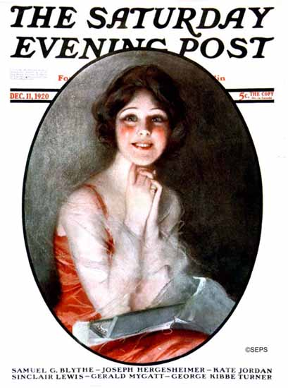 Alfredo Galli Artist Saturday Evening Post 1920_12_11 | The Saturday Evening Post Graphic Art Covers 1892-1930