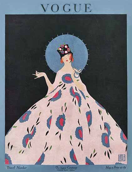 Alice de Warenne Vogue Cover 1916-05-15 Copyright | Vogue Magazine Graphic Art Covers 1902-1958