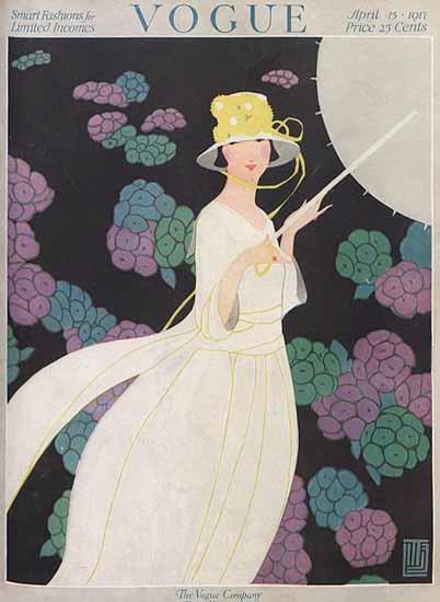 Alice de Warenne Vogue Cover 1917-04-15 Copyright | Vogue Magazine Graphic Art Covers 1902-1958