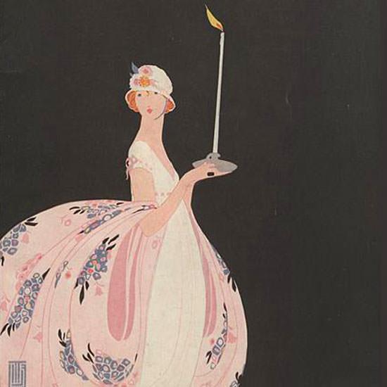 Alice de Warenne Vogue Cover 1918-01-01 Copyright crop | Best of Vintage Cover Art 1900-1970