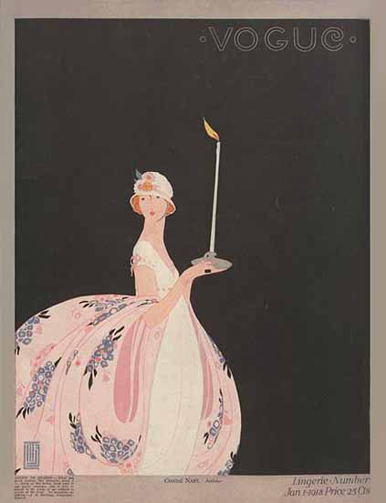 Alice de Warenne Vogue Cover 1918-01-01 Copyright | Vogue Magazine Graphic Art Covers 1902-1958