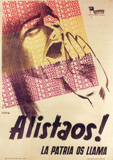 Alistaos La Patria Os Llama Spain Espana | Vintage War Propaganda Posters 1891-1970