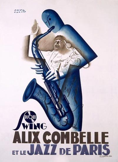 Alix Combelle Jazz De Paris Saxophone Paul Colin | Vintage Ad and Cover Art 1891-1970