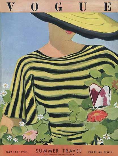 Alix Zeilinger Vogue Cover 1934-05-15 Copyright | Vogue Magazine Graphic Art Covers 1902-1958